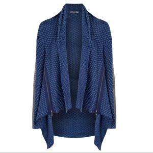 Devoted Leather Arm knitted Open Cardigan